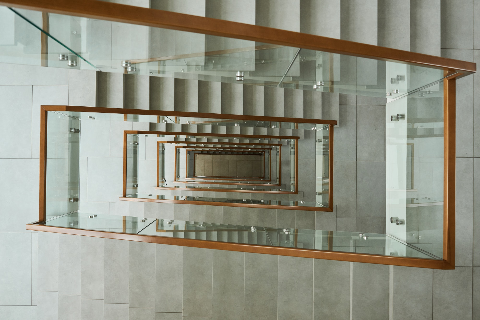 Modern stairs in building